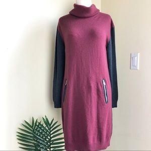 Ann Taylor color block sweater dress